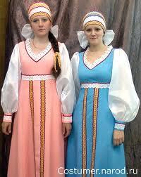 стилизованные женские русские народные костюмы.