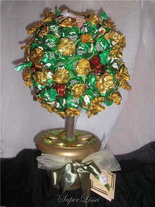 Денежное дерево из конфет своими руками мастер класс 66