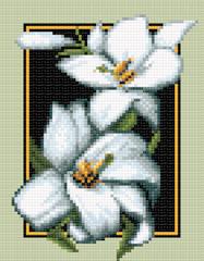 схема для вышивки крестом Белые лилии.