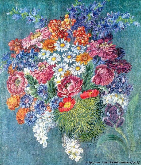 002-Букет цветов (1960) (600x700, 438Kb)