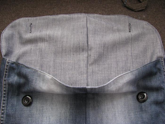Мастер-класс по пошиву сумки из старых джинсовых штанов.