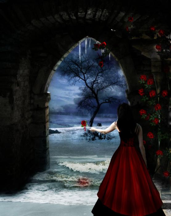 Bleeding__a_rose__by_HunterOfSolitude (555x700, 282Kb)