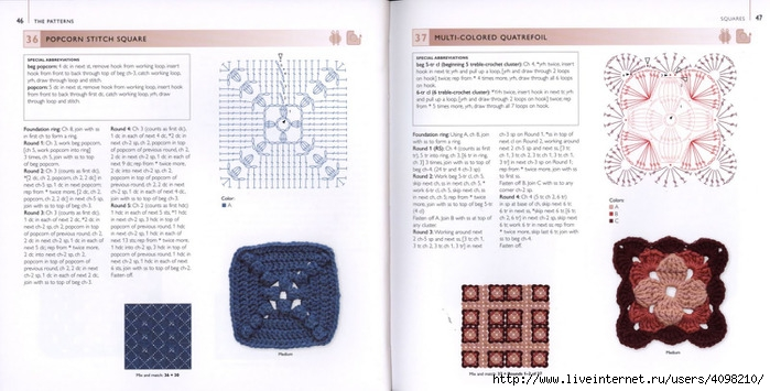 150针织的的钩针Motifs_H.Lodinsky_Pagina 46-47(700x355,167KB)