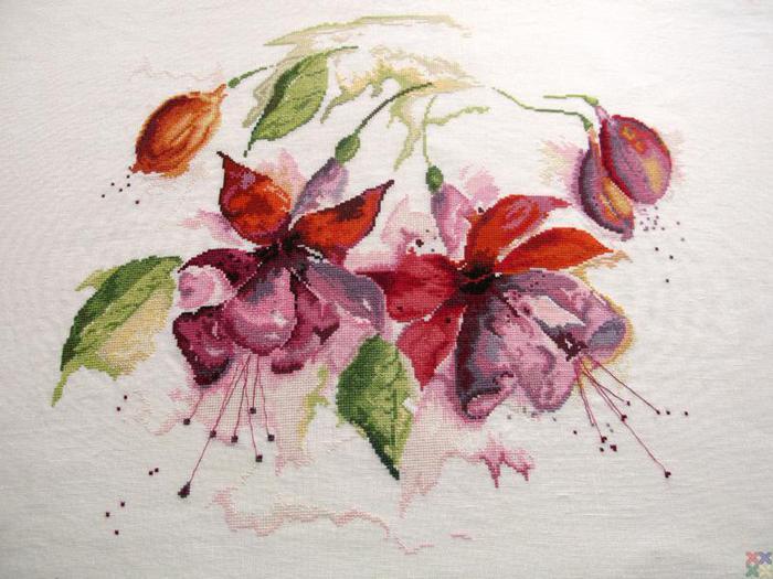 Рисованные цветы схемы
