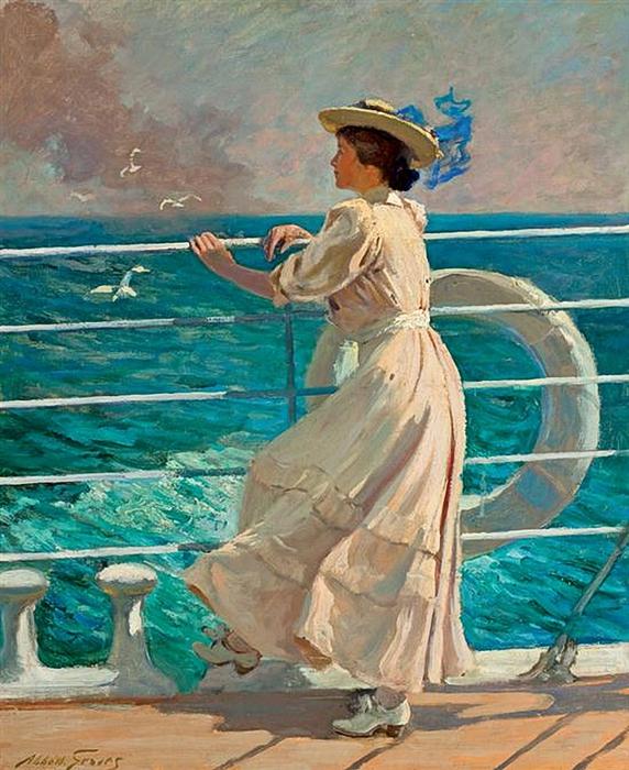 Abbott Fuller Graves  -  On the Deck (572x700, 339Kb)