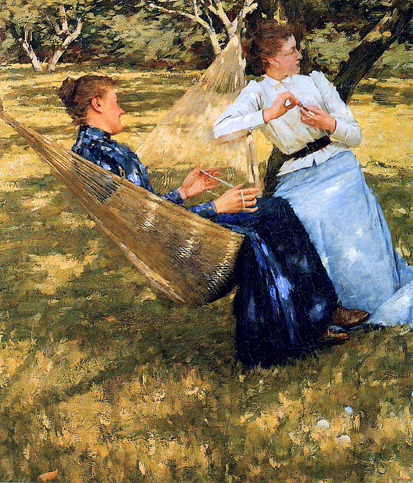 Henry Herbert La Thangue ( 1859 –  1929)-In-the-orchard- (598x700, 747Kb)