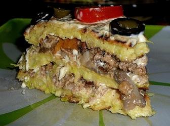 Кабачковый торт с фаршем пошаговый рецепт с фото