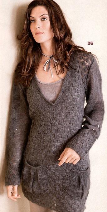 Пуловер с горлом связать