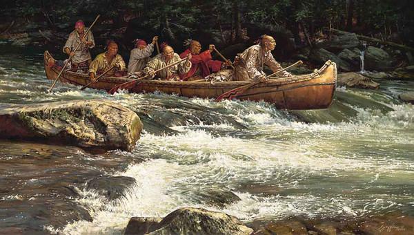 длинная лодка индейца