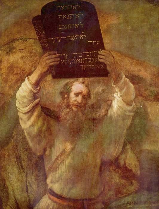 Моисей со скрижалями законов, Рембрандт, 1659. (532x700, 50Kb)