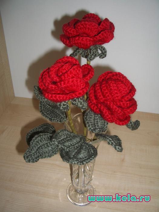 Вязанье крючком розы