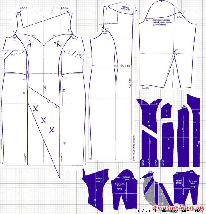 Выкройки модных платьев бесплатно 11