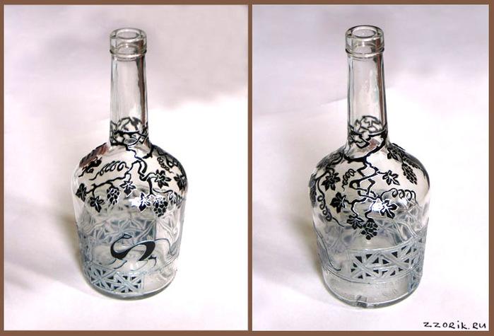 Витраж на бутылке фото