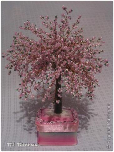Бонсай топиарий Мастер-класс 8 марта Бисероплетение Дерево Сакура М К Бисер фото 16.