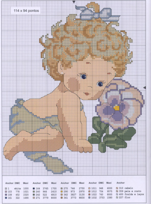 Схема для вышивки Ангелочкисхемки ФОТО #4.