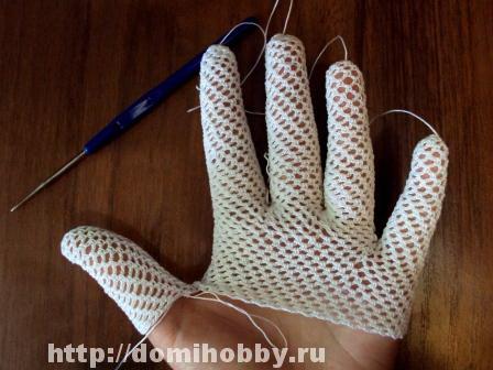 Довязав перчатку до большого