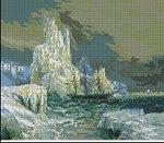 Превью Ледяные горы (И.К. Айвазовский) арт-099 Гобелен-Сет Румыния (200x175, 14Kb)
