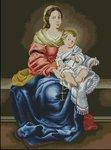 Превью Мадонна с Младенцем Б.Мурильо (Гобелен-Сет Румыния) (200x270, 16Kb)