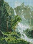 Превью Пейзаж с водопадом арт-669  Гобелен-Сет Румыния (200x266, 22Kb)