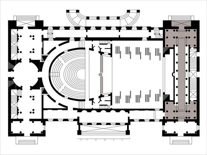 План нижнего этажа большого