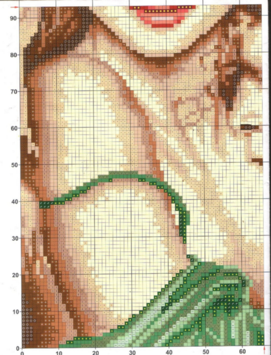 Вышивка крестиком схема романтика 53