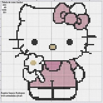 свой цитатник или сообщество! hello kitty - из бисера, вышитая крестом, из ткани, идеи как применить.