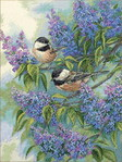 Превью Dimensions 35258 Chickadees and Lilacs (333x443, 95Kb)