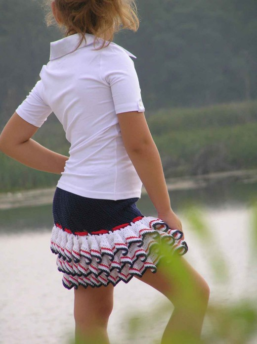 Длинная юбка с рюшами 6