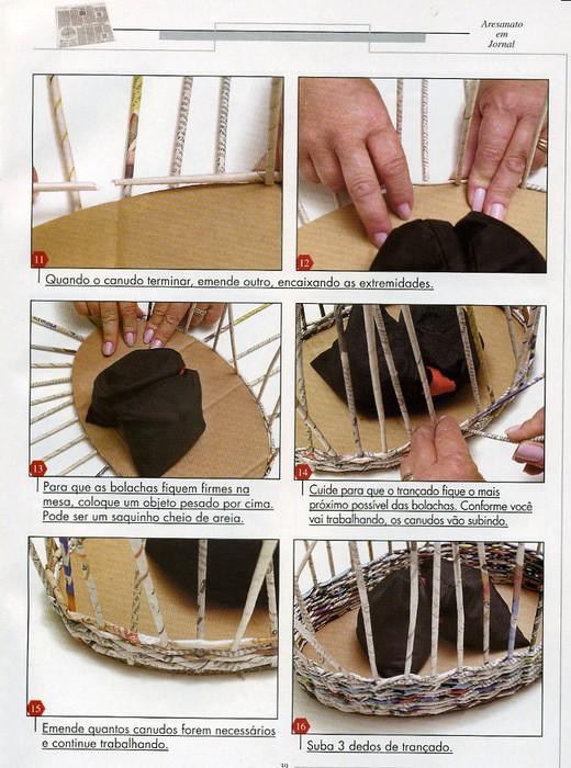 Как сделать своими руками из газеты корзину