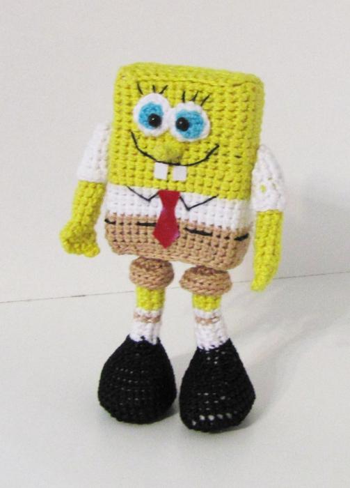 Вязание крючком - Вязаный Спанч Боб.