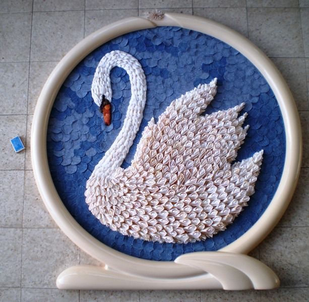 recycling ideas: art pearl inlaying and seashell