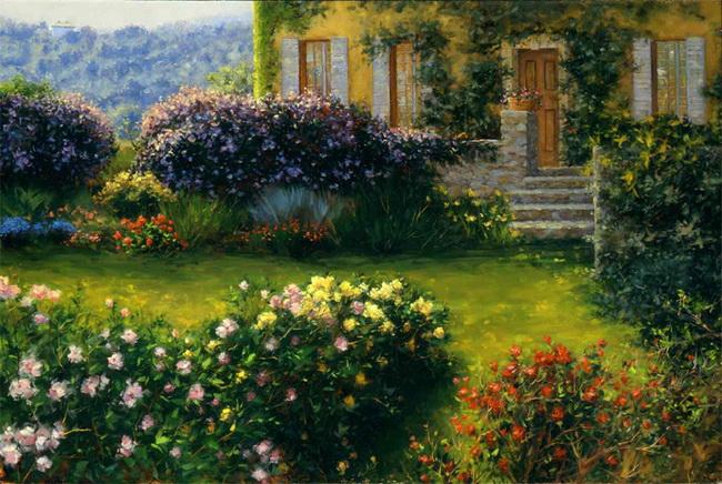 bill inman追求他的梦想,创造出美丽的艺术,因为他第一次站在画架