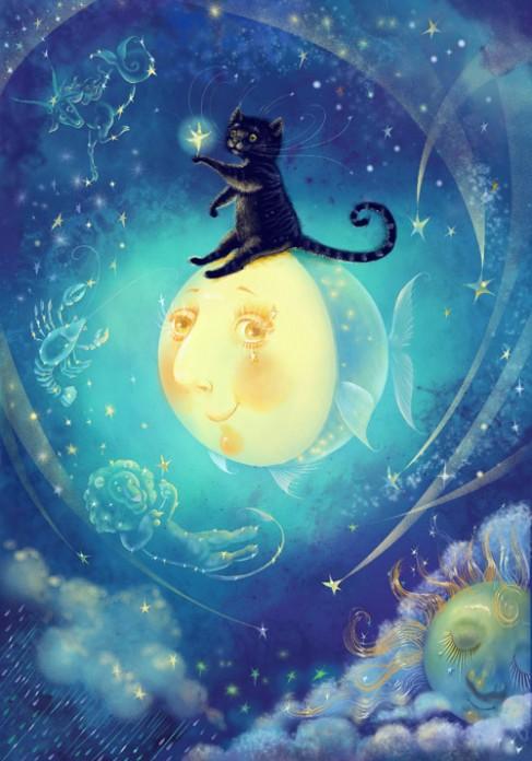 Звёздный кот (487x696, 84Kb)
