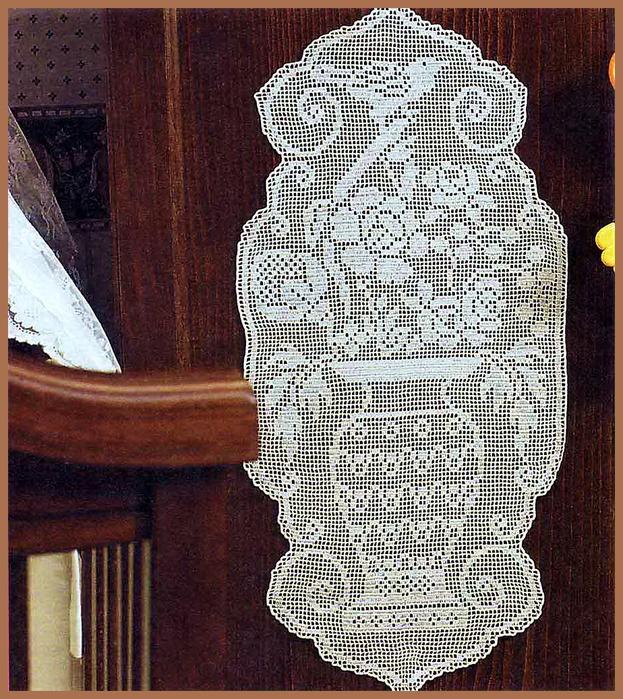 Салфетка-картина_ваза с цветами.