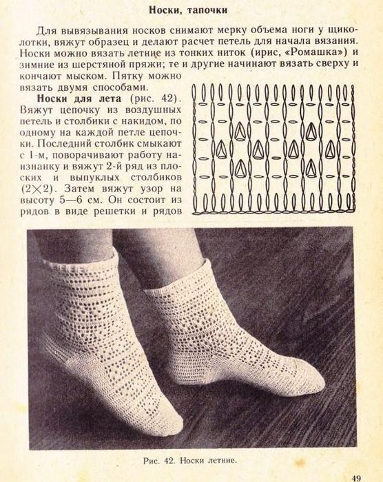 Схемы вязания ажурных носков 10