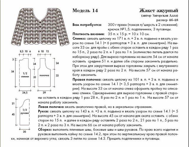 Схемы вязания кофточек крючком для начинающих с описанием