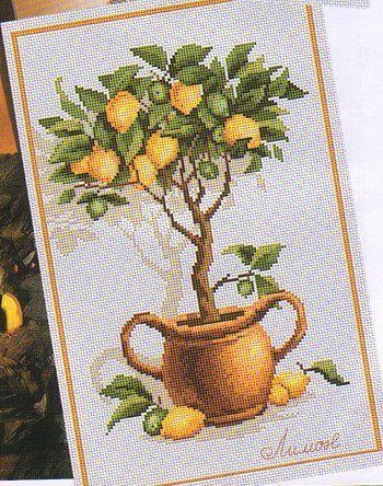 Схема вышивки лимонного дерева