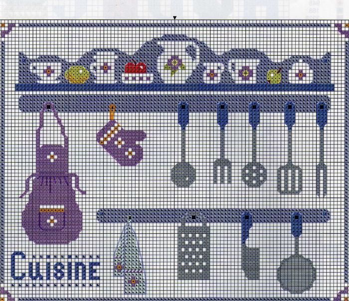 Кухня схема вышивки 26