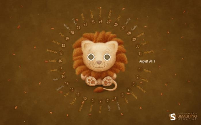 Большая подборка красивых календарей на август 2011