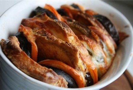...кальмары в духовке: закуска из армянского лаваша, из каштанов гарнир.