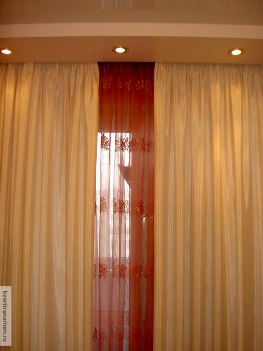 тюль и шторы на потолочных карнизах фото