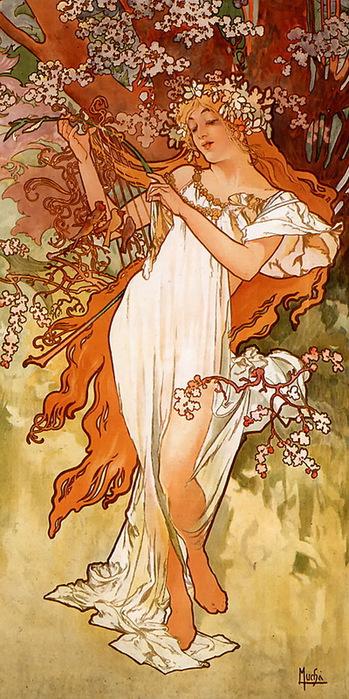 5-Альфонс Муха-весна (349x700, 155Kb)