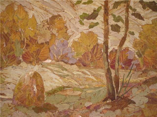 картина из листьев (640x480, 86Kb)