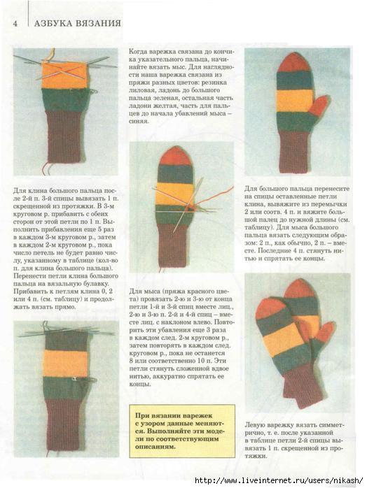 Вязание спицами. варежки.  С нашей подробной инструкцией сделать это.