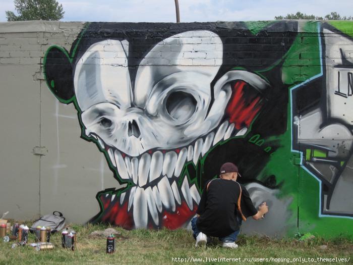 научится рисовать граффити карандашом: