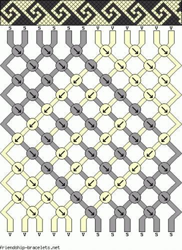 Даниил Марков: схемы плетения фенечек - 8 ниток - 01 - Главная.