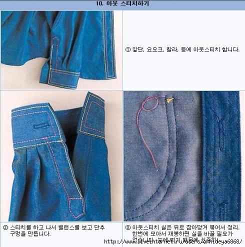 Как из джинс сшить рубашку 64