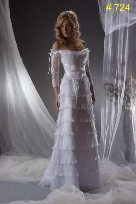 самые красивые свадебные платья na osen