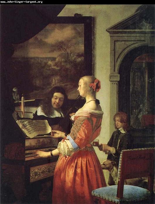 Frans van mieris. the duet -652687 (530x700, 338Kb)