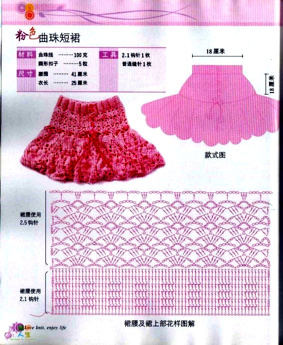 Вязание юбки на девочку 2 года с описаниями и схемами 75